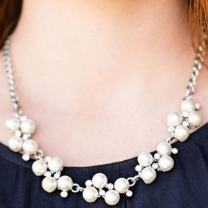 paparazzi Jewelry - White Pearl Necklace Earring Bracelet Set